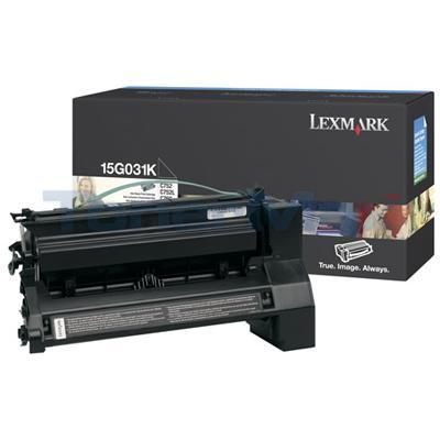 LEXMARK C752 PRINT CART BLACK 6K